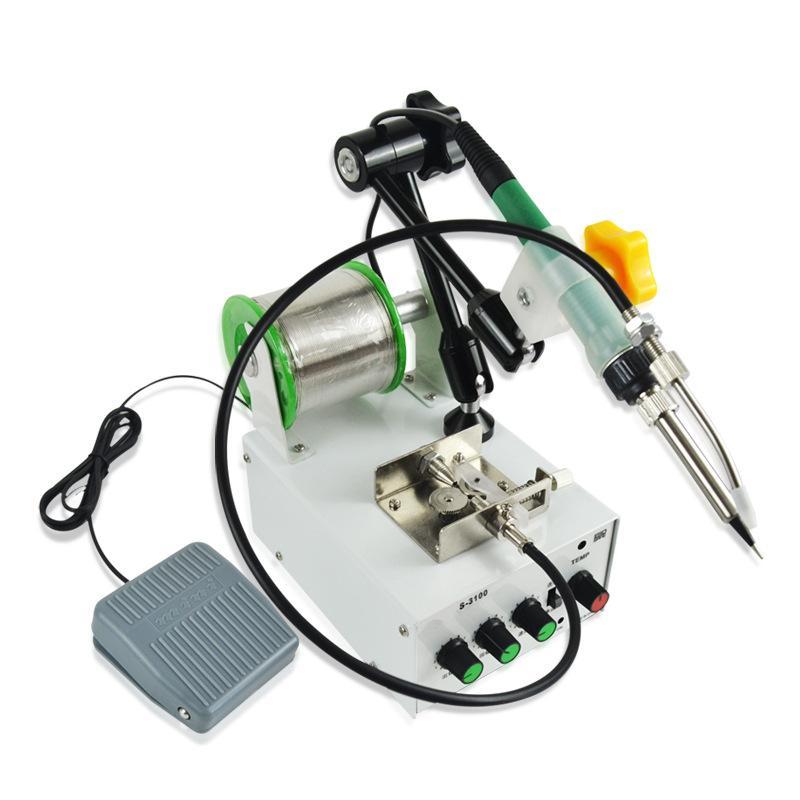 220V 60W à main Fer à souder Chauffage interne Pied soudure automatique Gun Envoyer Tin Soudage Repair Tool