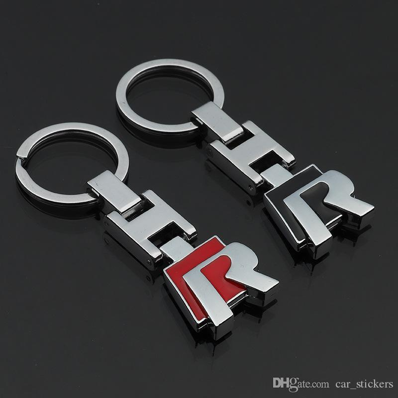 3D Metal Keychain Car R LOGO Key Chain Fit for Volkswagen VW Polo Golf Passat CC R32 R36 Keyring