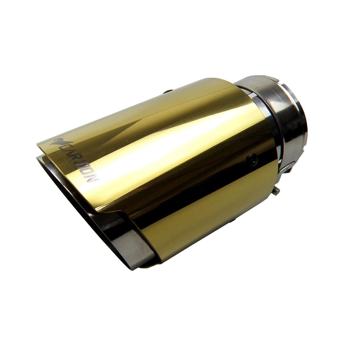 Kipalm سيارة عالمية Akrapovic نوع الذهبي الفولاذ المقاوم للصدأ الطرف العادم نهاية الأنابيب لمرسيدس بنز بي ام دبليو أودي VW جولف تويوتا هوندا أجزاء