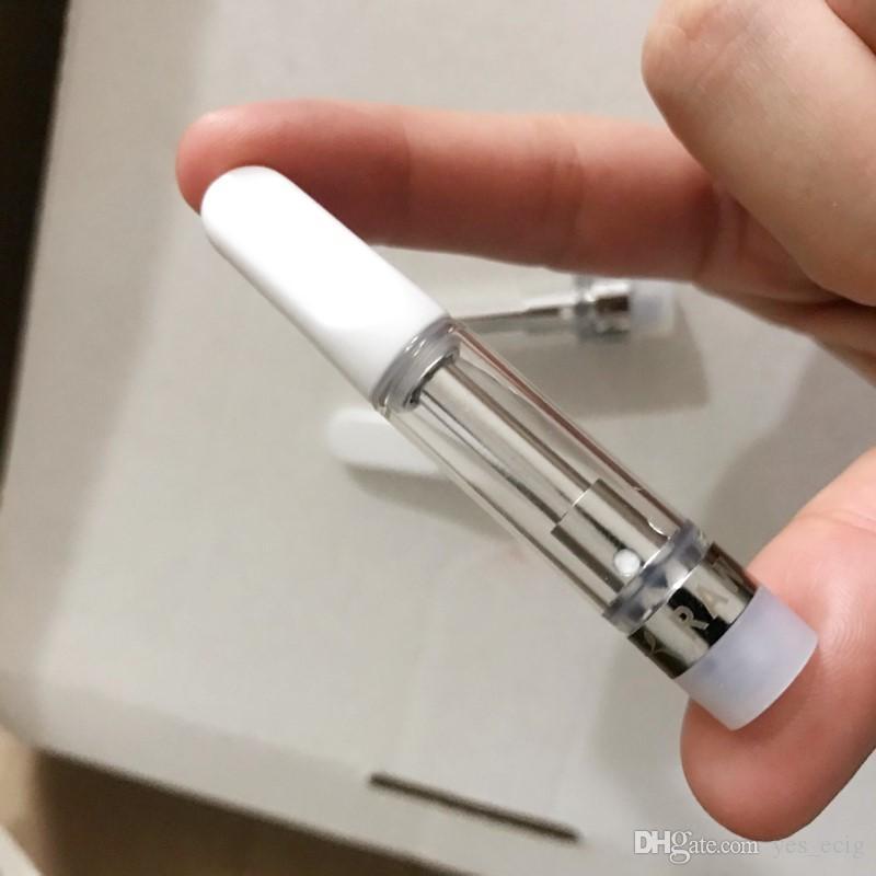 Новый необработанный Садовый вейп картридж упаковка 0.8 мл 1 мл керамические вейп тележки толстые ручки испарителя масла для 510 резьбы электронной сигареты