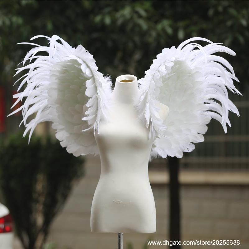 Saf el yapımı düğün Çocuk Bayramı doğum günü partisi güzel hediyeler için yüksek kaliteli YUMUŞAK beyaz melek kanatları büyük deco sahne özelleştirilmiş