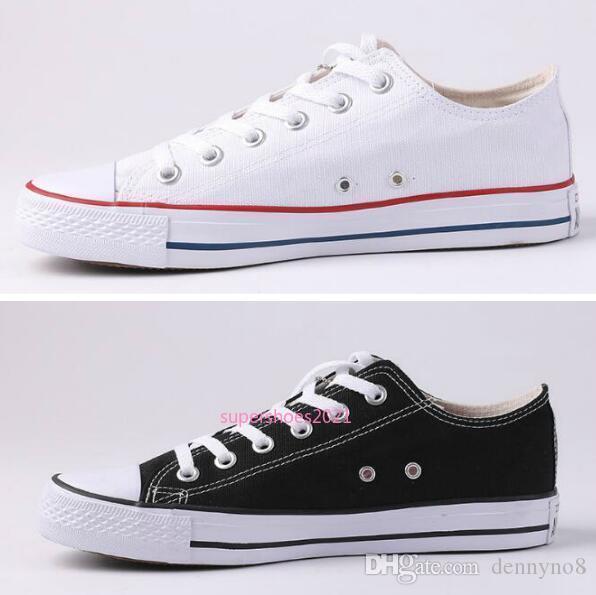 Yeni Yıldız Büyük Beden 35-45 Günlük Ayakkabılar Düşük Üst Yıldız Klasik Tuval Ayakkabı Erkek / Kadın Canvas Shoes
