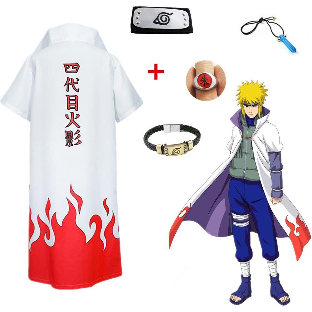 Asya Boyut Japonya Anime Naruto 4 Yondaime Namikaze Minato Cadılar Bayramı Cosplay Hokage Kızıl Bulut Kostüm Palto Cloak