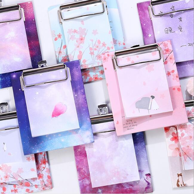 Clip Board Notes Stickers Notepads Memo Pads Sticky Memos Korean Stationery Note Paper Stickers School Supplies