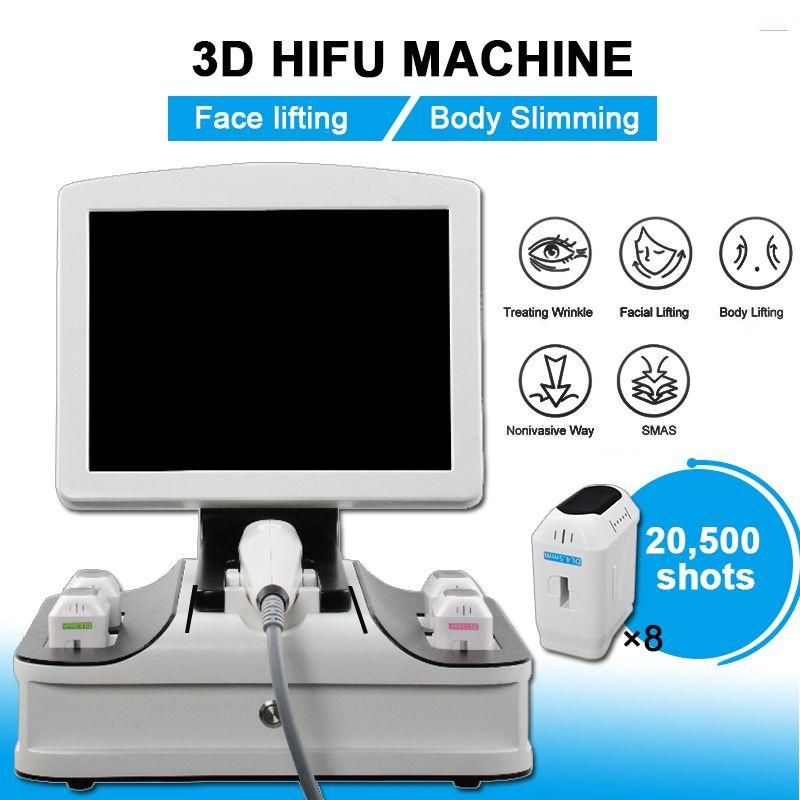 2021 HIFU 3D Yüz Germe Makinesi cilt gençleştirme Yüz Kırışıklık Kaldırma Mahine zayıflama makinesi 3D HIFU sıkın