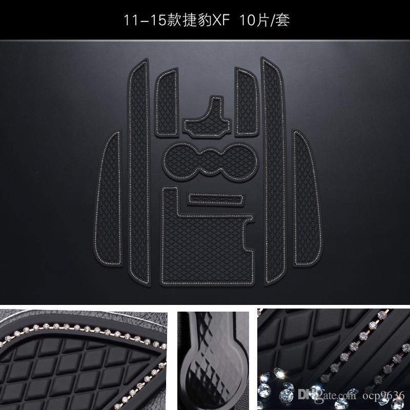 Для Jaguar XF 11-15 Non-Slip коврики слот Gate коврик Интерьер ПВХ Резиновые двери Pad / Кубок Mat