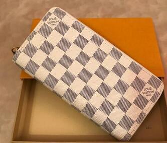 Talonario de cheques carpeta de la tarjeta de crédito Foto titular de la cartera de cuero marrón Mono Gram cuadros blanco lona que envía libremente XOMP 9HJOH5HZH5HZ CCHB1I5E