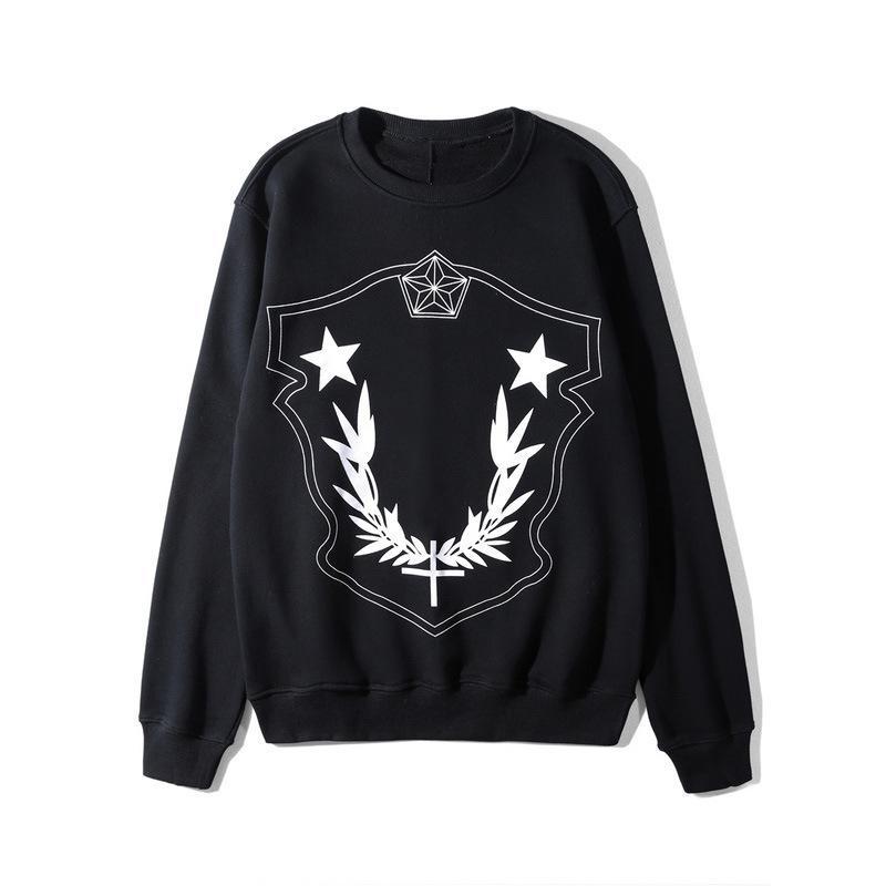 Del diseñador del Mens Pullover Estrellas Impreso de manga larga camiseta de cuello redondo de 2 colores Tops para el otoño del resorte envío