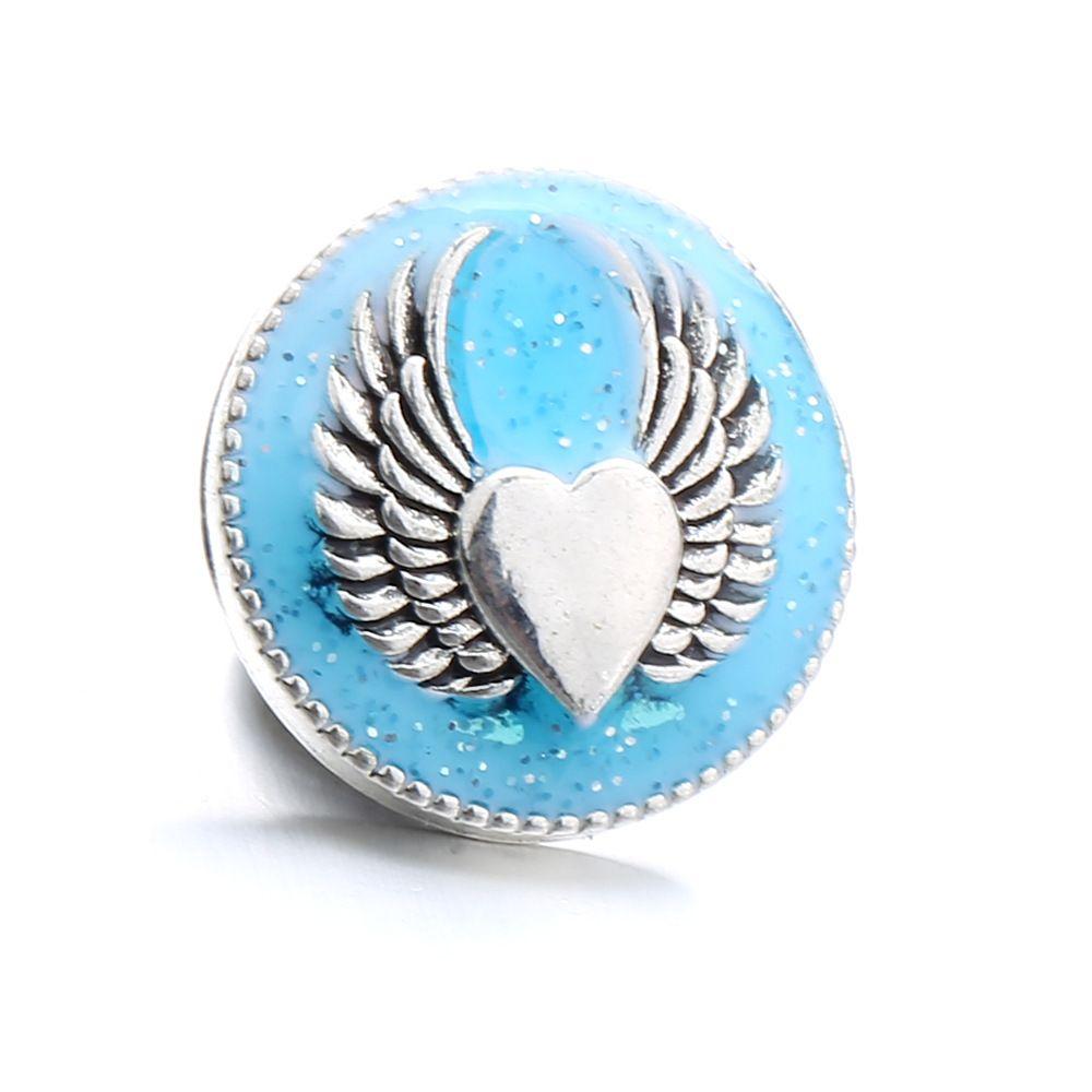 قطع نوسا التقط زر المفاجئة أزرار مجوهرات الملاك wingsl ل 18 ملليمتر المفاجئة زر قلادة سوار الزنجبيل الطقات مجوهرات