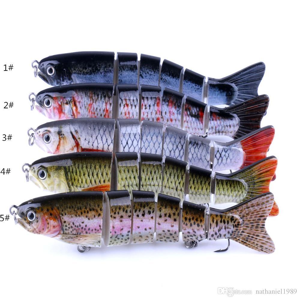 12.7cm 22g Multi-section Carp Fishing Lures 3D Eyes Lifelike Hard Baits Crankbait With 2 Hook Pesca Cebo Accessories