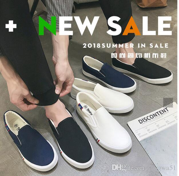 2019 nuevos zapatos de lona de hombre de comercio exterior de gran tamaño zapatos de hombre versión coreana01
