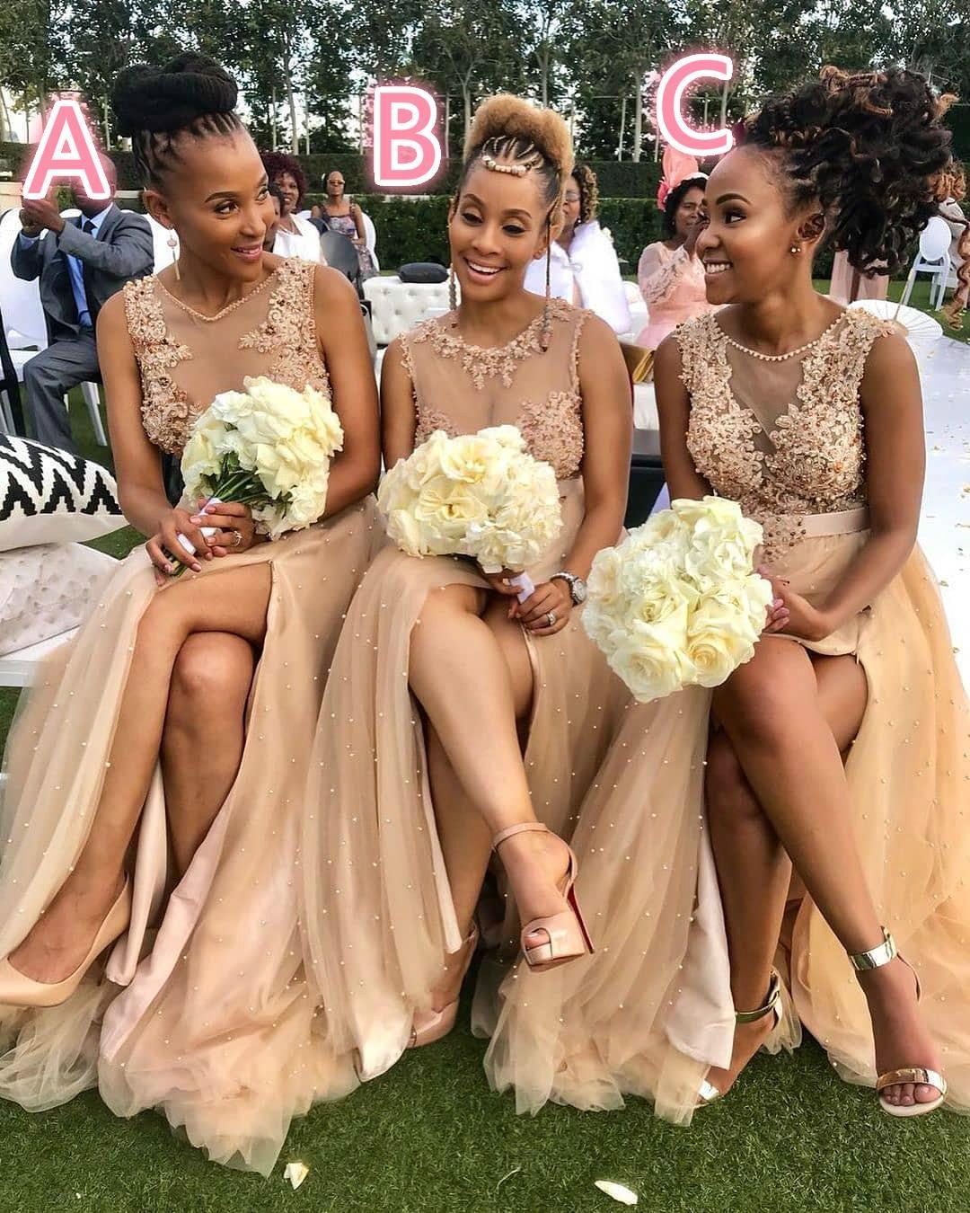 ASO EBI Arabische sexy bruidsmeisje jurken kant parels gasten jurken hoge split formele feestavond prom jassen