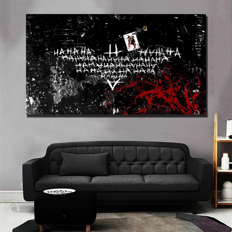 Joker Hahaha Background Thumb Image Canvas Prints Picture Modular Paintings For Living Room Poster On The Wall Home Decoration