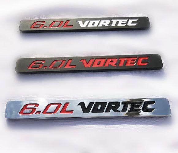 6.0L VORTEC 3D ABS autocollant de capot autocollant emblème Fit Pour Chevy Silverado GMC Sierra Avalanche SRT