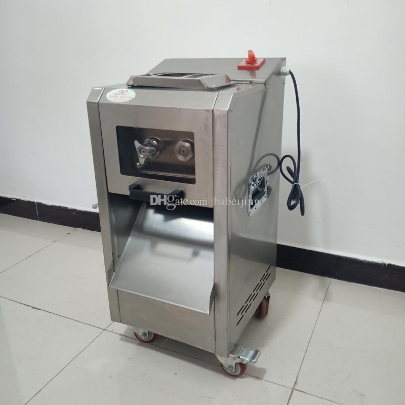 Livraison gratuite en mer double en acier inoxydable machine de découpe coupe-trancheuse à viande commerciale multifonctionnelle viande électrique coupé en dés Hachoir
