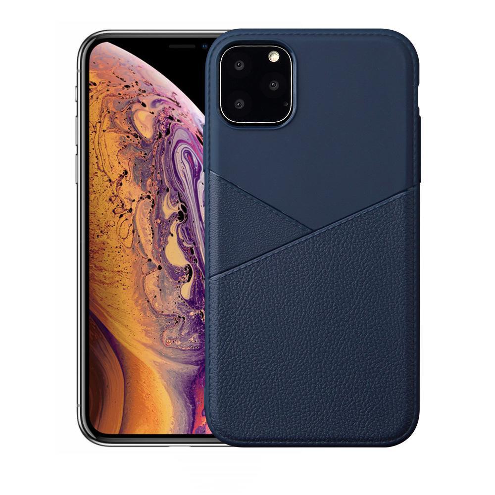 Antichocs couverture souple boîtier arrière tpu soft shell grain cuir style business pour iPhone 11 pro max s10 note 10 cas mince de téléphone