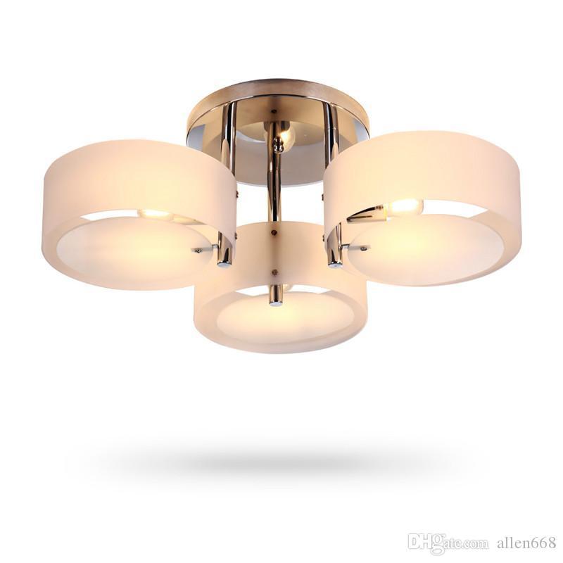 De techo moderna Iluminación Luces acrílico LED de la lámpara de techo Lustre Comedor artefactos de iluminación de la lámpara