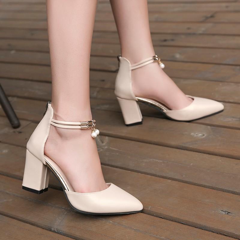 Sıcak Elbise Ayakkabı Yüksek Topuklu Tekne Ayakkabı Düğün Feminino Yaz Kadın Ayakkabı Sivri Burun