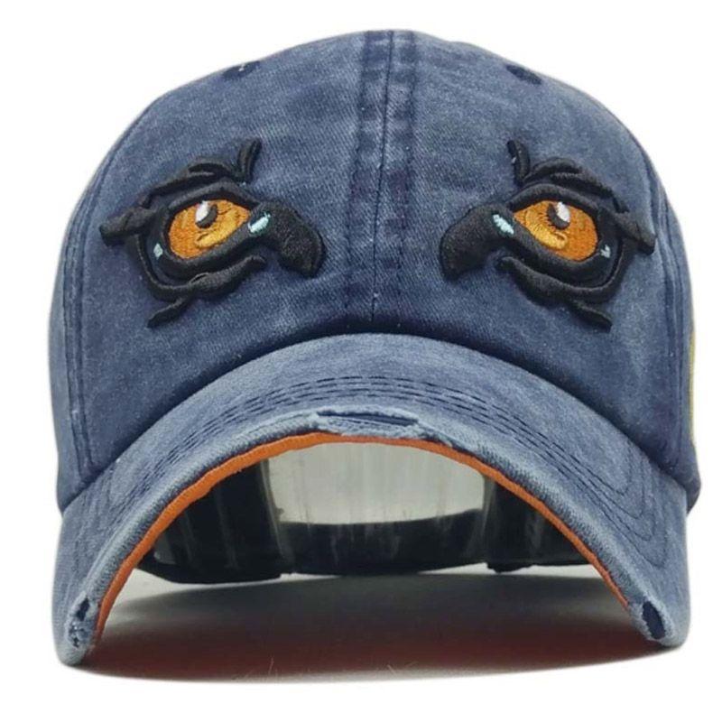 Wholesale Washed Cotton Baseball Cap Snapback Hat Men Women Retro Hip Hop Fitted Caps Casual Casquette Gorra Hombre Bone