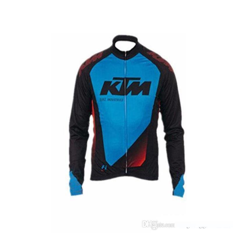 2018 KTM ساخنة جديدة طويلة الأكمام الأسود ركوب الدراجات الفانيلة المضادة للأشعة فوق البنفسجية MTB دراجة الجودة مايوه روبا الملابس Ciclismo دراجات