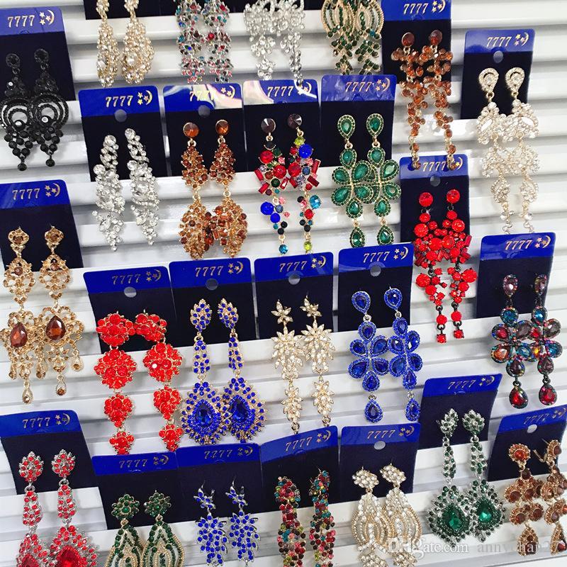 البوهيمي الرجعية الأوروبية والأمريكية سبيكة الماس الأقراط الطويلة الشهيرة قصر الرياح الرياح بالغت الأقراط بالجملة مجوهرات ميكس DHLS