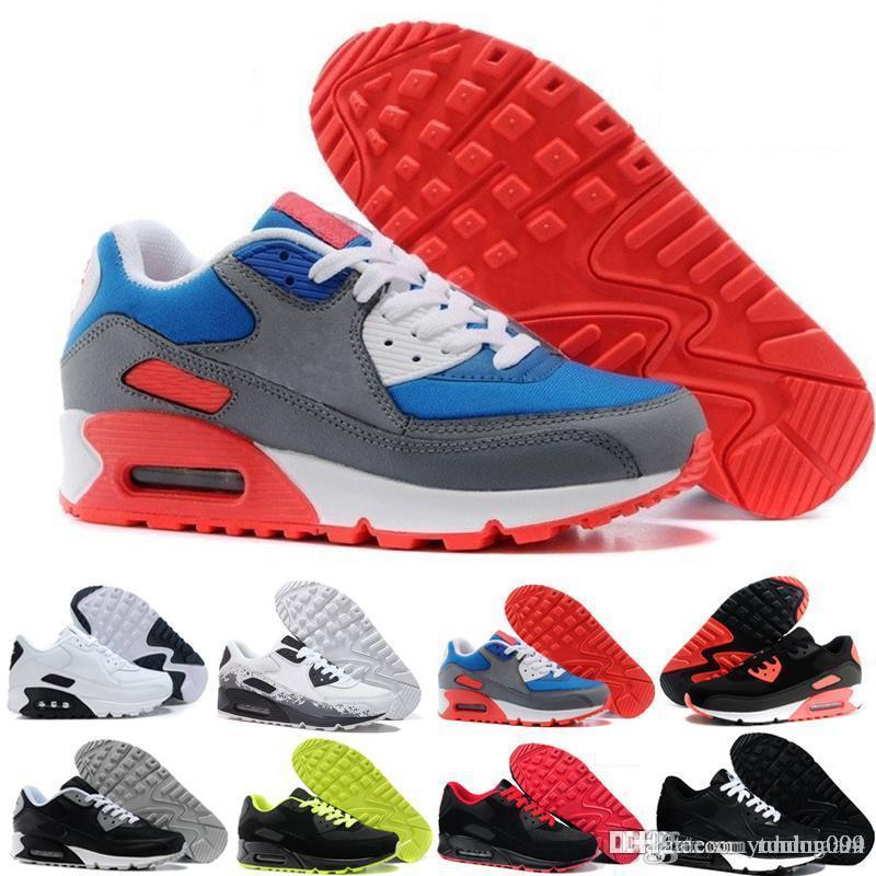 nike air max 90 90s airmax 2018 vendita calda cuscino scarpe da corsa uomo di alta qualità nuove scarpe da ginnastica scarpe sportive economiche taglia 40-45 R623