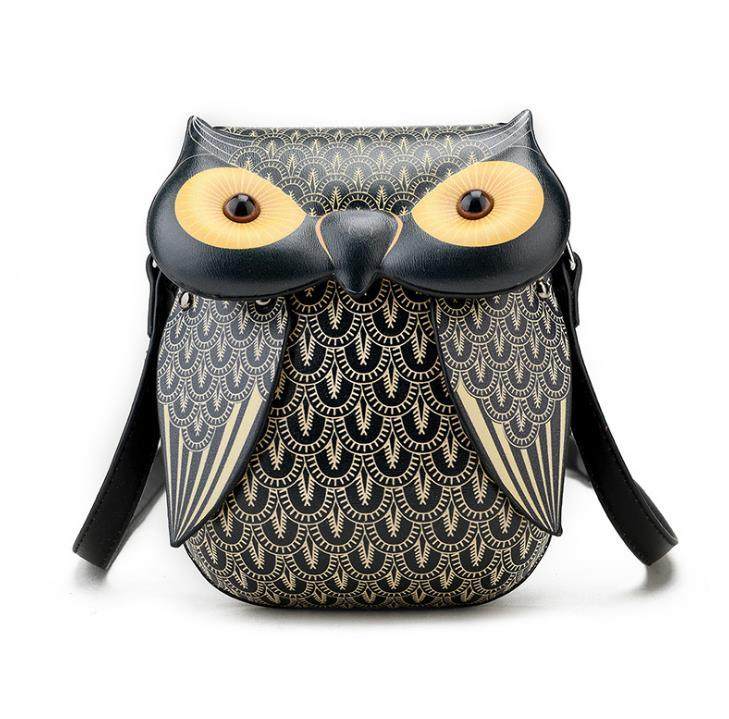 Malidaike 애니메이션 입체 올빼미 휴대 전화 어깨 대각선 여성 가방 패션 푸 인쇄 작은 가방 코스프레 액세서리