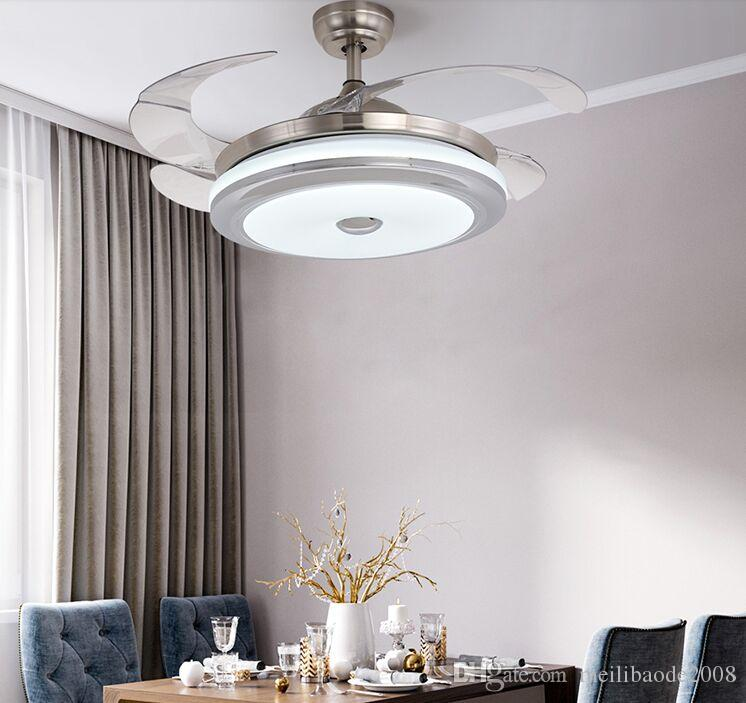 42 inch Ceiling Fans Lighting Remove Control Invisible Fan Home Led Lamps Lighting Ceiling Fans 110V 220V MYY