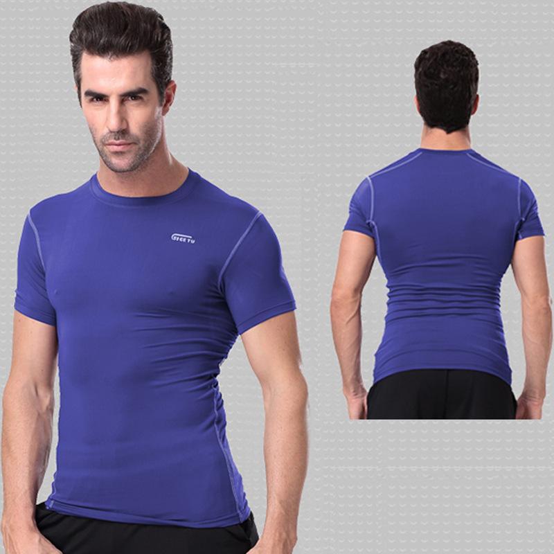 Secar roupa, alta elasticidade apertado Pro Roupa de Formação Aptidão ao ar livre Roupa, Preto Compressed Correndo Sportswear por goodface