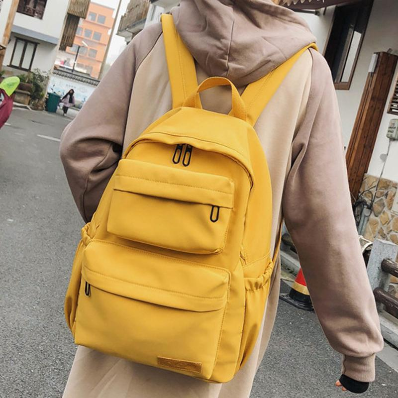 2019 neue wasserdichte Nylon-Rucksack für Frauen Travel Rucksäcke schoolobag Weibliche Schultasche für weibliche Teenager-Buchtasche Mochilas T200326