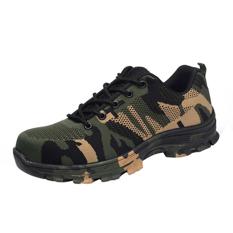 Dropshipping Trabajo zapatillas indestructible Ryder zapatos de punta de acero de los hombres y las mujeres la seguridad aérea calzado transpirable botas a prueba de pinchazos