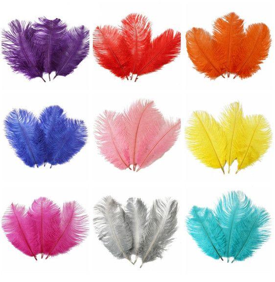 100 adet 15-20 CM / 6-8 Inç Güzel Devekuşu Tüyler DIY Takı Craft Yapımı için Parti Düğün Dekorasyon