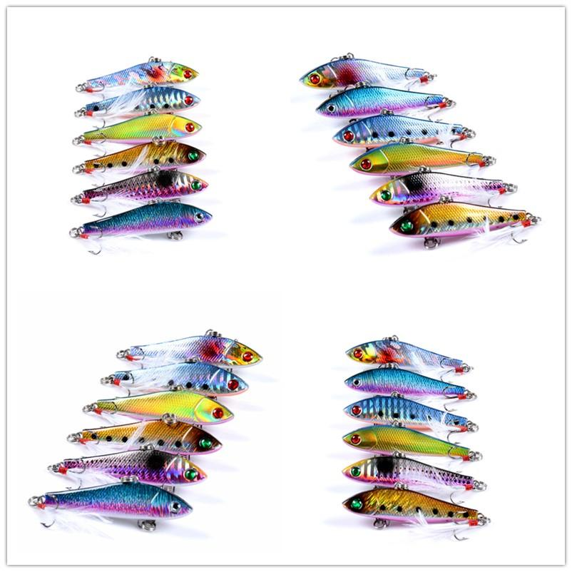 New Realistic Painted Plastic VIB Laser baits 6.5cm 8.8g Sinking Vibration Isca Peche Fishing Lure Pike bait