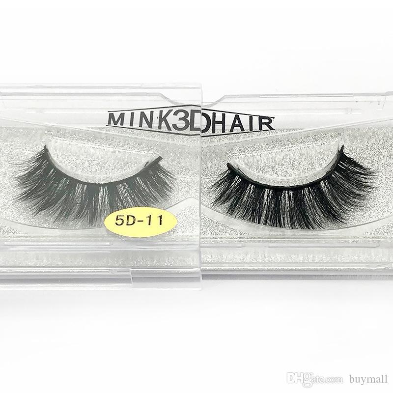 Mink cheveux 3D faux cils faits à la main faux cils réutilisable de cils épais look naturel DHL gratuit