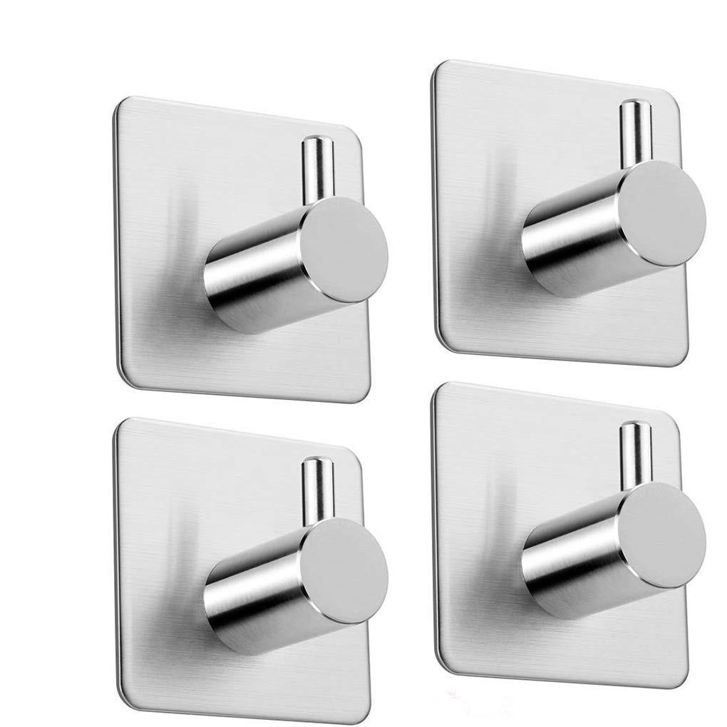 1pc Kitchen Bathroom Self Adhesive Sticky Hooks Wall Hanger for Towel Robe
