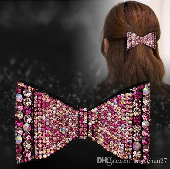 hair Barrettes New Fashion Hair Jewelry Grace Rhinestone Clips Czech stone Swarovski Wholesales DIY Mother Day Valentine Gift