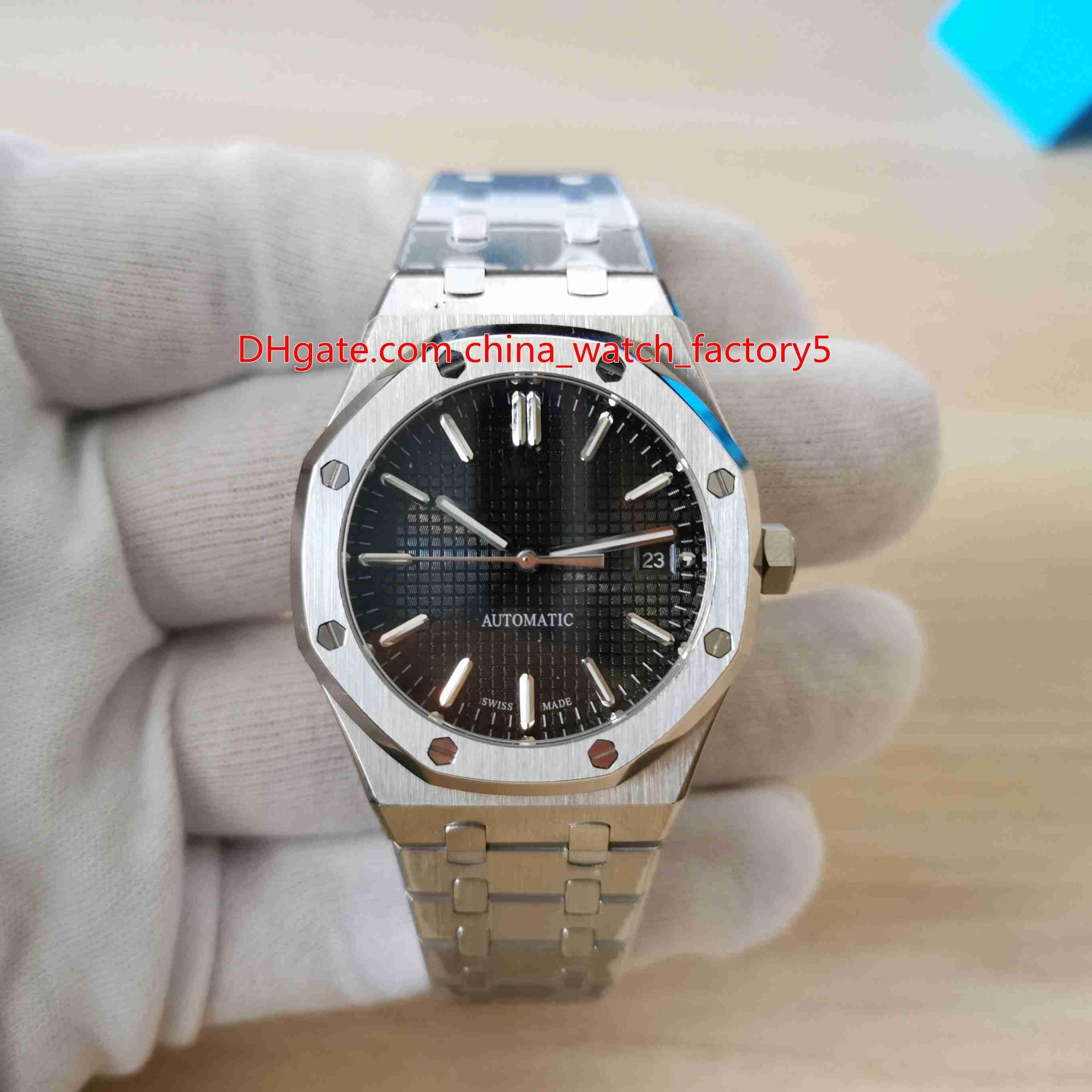 12 alta calidad del estilo unisex 37mm Royal Oak Offshore 15450 15450ST Asia 2813 relojes de movimiento mecánico automático del reloj de señoras de las mujeres