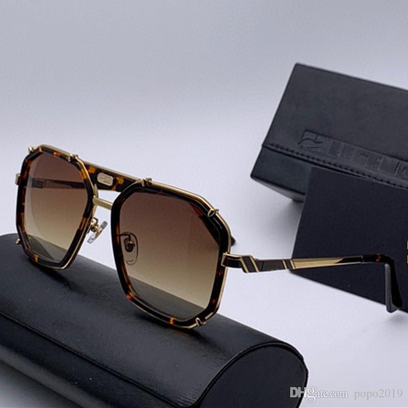 فاخر جديد النظارات وتصميم معدن الرجال خمر 659 النظارات الشمسية الاسلوب المناسب للأشعة فوق البنفسجية مربع 400 مع عدسة القضية الأصلية