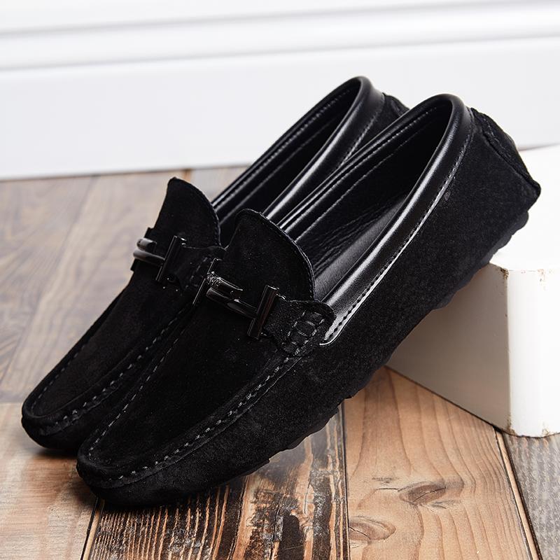 الرجال أعلى ماركة أزياء عارضة لينة لينة الغزال قارب أحذية الذكور الأحذية الكبار التنقيس الصيف الأخفاف hommes زائد الحجم 11