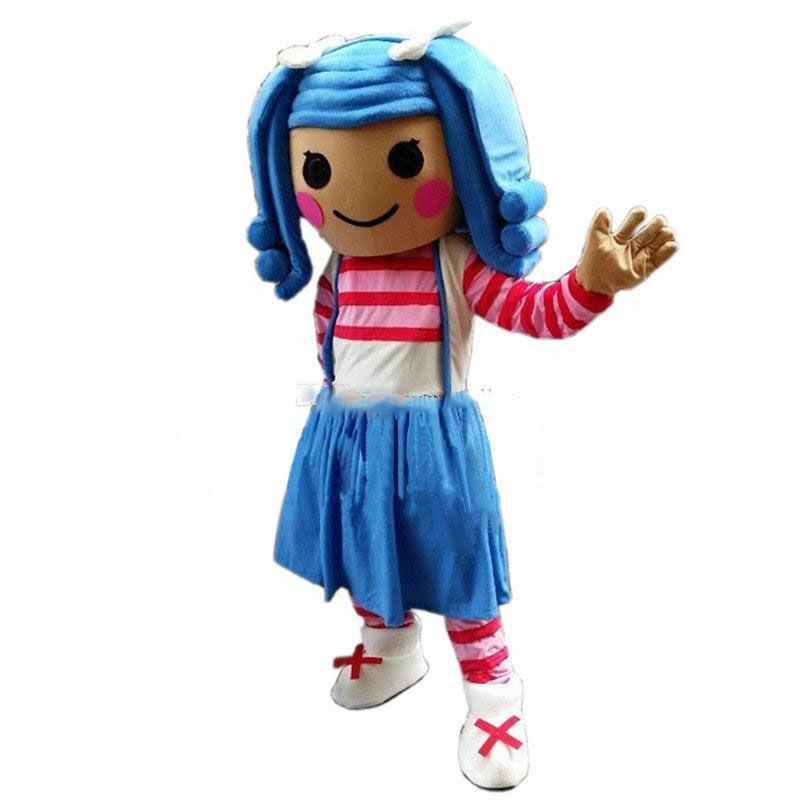 En iyi lalaloopsy kız Maskot Kostüm Karikatür Fantezi Elbise Ücretsiz Kargo Yetişkin Boyutu