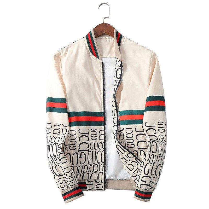 20ss modo del Mens Jacket Mens Windbreaker manica lunga Mens Jackets tasca della chiusura lampo degli uomini casuali con cappuccio Zipper Giacche