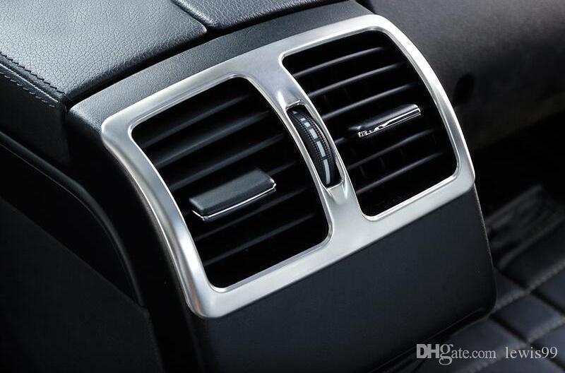 Interior de carro Braço Caixa traseira Air Vent saída Tampa guarnição tira quadro Etiquetas para Mercedes-Benz Classe E Coupe W207 C207 2009-16 Acessórios