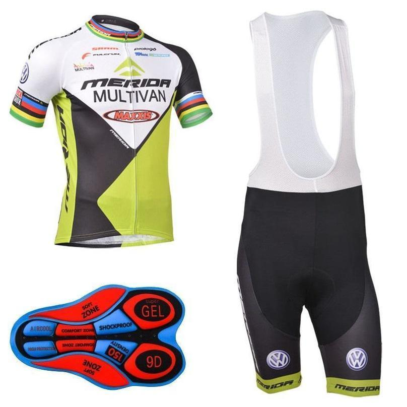 2020 메리다 자전거 저지 세트 2020 메리다 사이클 의류 여름 짧은 소매주기 뉴저지 프로 팀 사이클링 턱받이 반바지 Ciclismo Maillo D