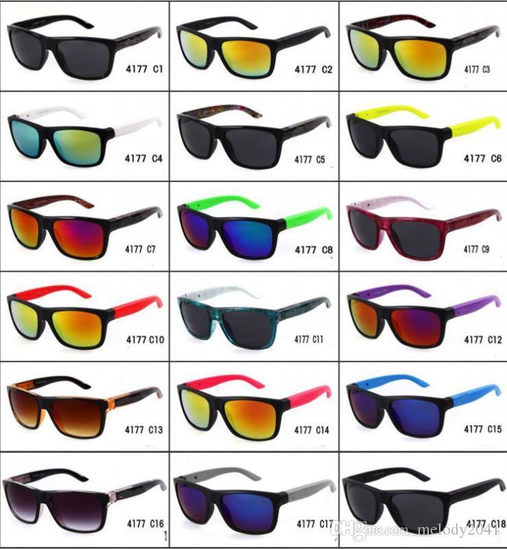 Beleuchtungsportsonnenbrillen für Frauen und Männer Fahren Brille Klassische Sonnenbrille 18 Farben 4177 Tempel können verändert