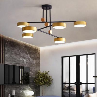 Modern LED Chandelier Fixtures For Living Room Crystal Lampshade Decor Home  Lighting Black Gold Bedroom Lustre Lamp AC110 240V Plug In Pendant ...