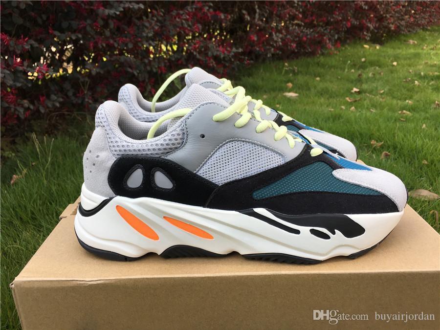2019 Comercio al por mayor 700 Runner Kanye West malva Hombres Mujeres Wave 700S deportes atléticos de los zapatos corrientes de las zapatillas de deporte de diseño