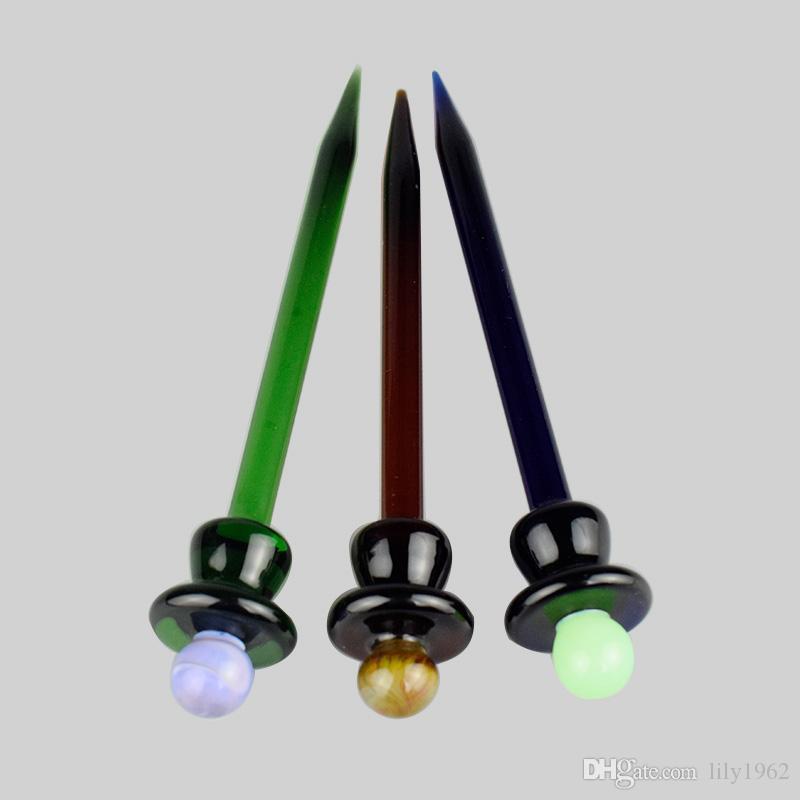 Chapeau de carburateur de verre coloré universel chapeau style dôme pour Quartz banger ongles tuyaux en verre sbong dab plates-formes pétrolières