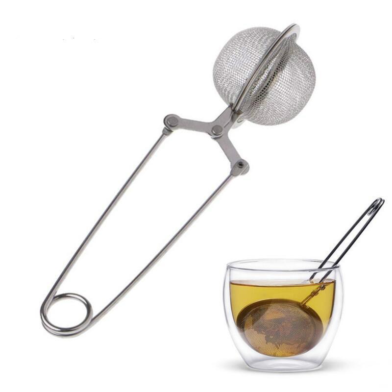 Sfera di tè superiore del tè Infuser acciaio inossidabile della maglia della sfera Setaccio del tè e caffè Herb Spice Filtro Diffusore maniglia