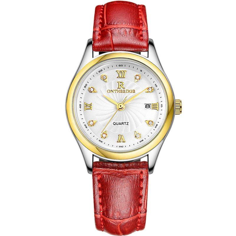 RZY013 ultradünne wasserdichte business leder gürtel luxusuhr damenuhr weibliche armbanduhr student geburtstagsgeschenk