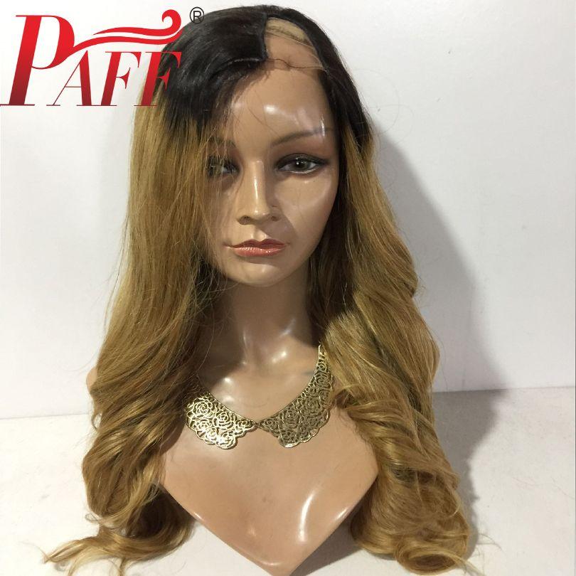 PAFF شعر مستعار جسم موجة شعر الإنسان U الجزء أومبير 1B 27 اللون البرازيلي ريمي اللون الطبيعي الأسود 1 * 3 افتتاح جزء الجانب لمة